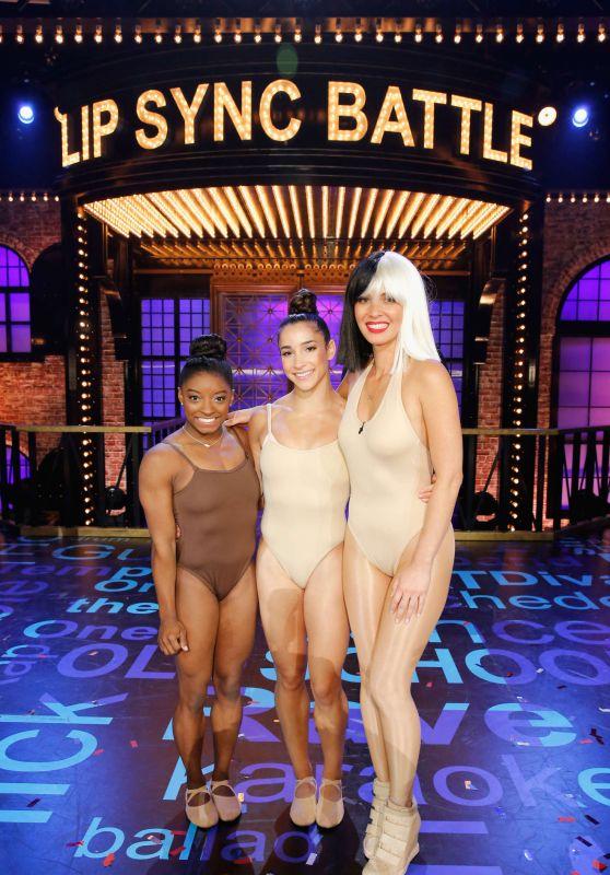 Olivia Munn, Aly Raisman and Simone Biles - Lip Sync Battle All-Stars Live 9/16/2016