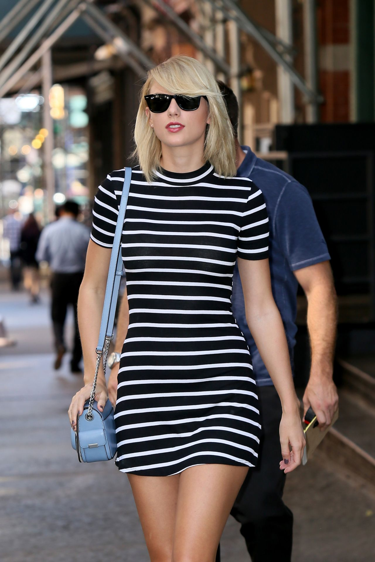 Taylor Swift in Mini Dress  Out in New York 09142016