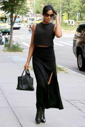 Padma Lakshmi Classy Fashion - Outside Her NYC Apartment 9/28/2016