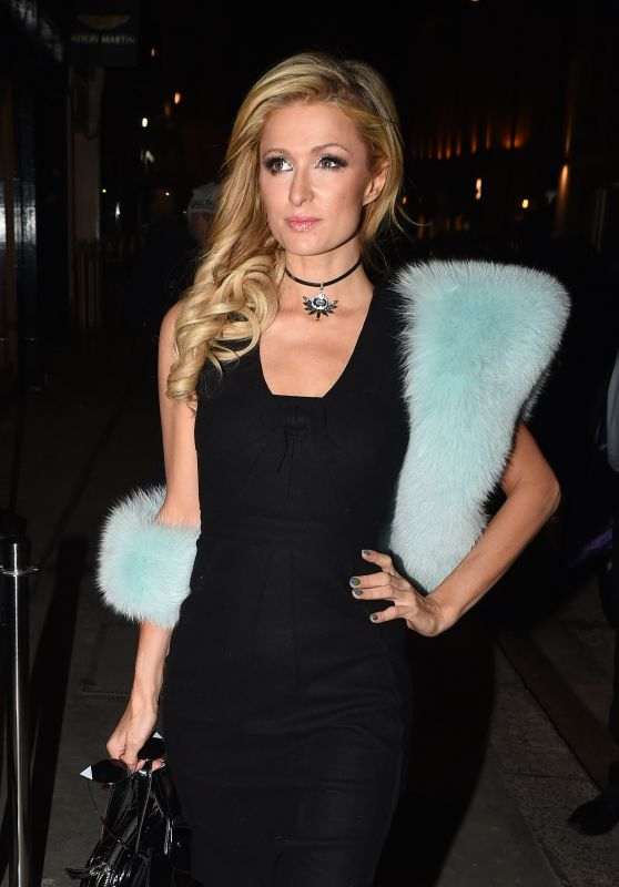 Paris Hilton - Leaving the Mayfair Hotel in London 1/26/ 2017