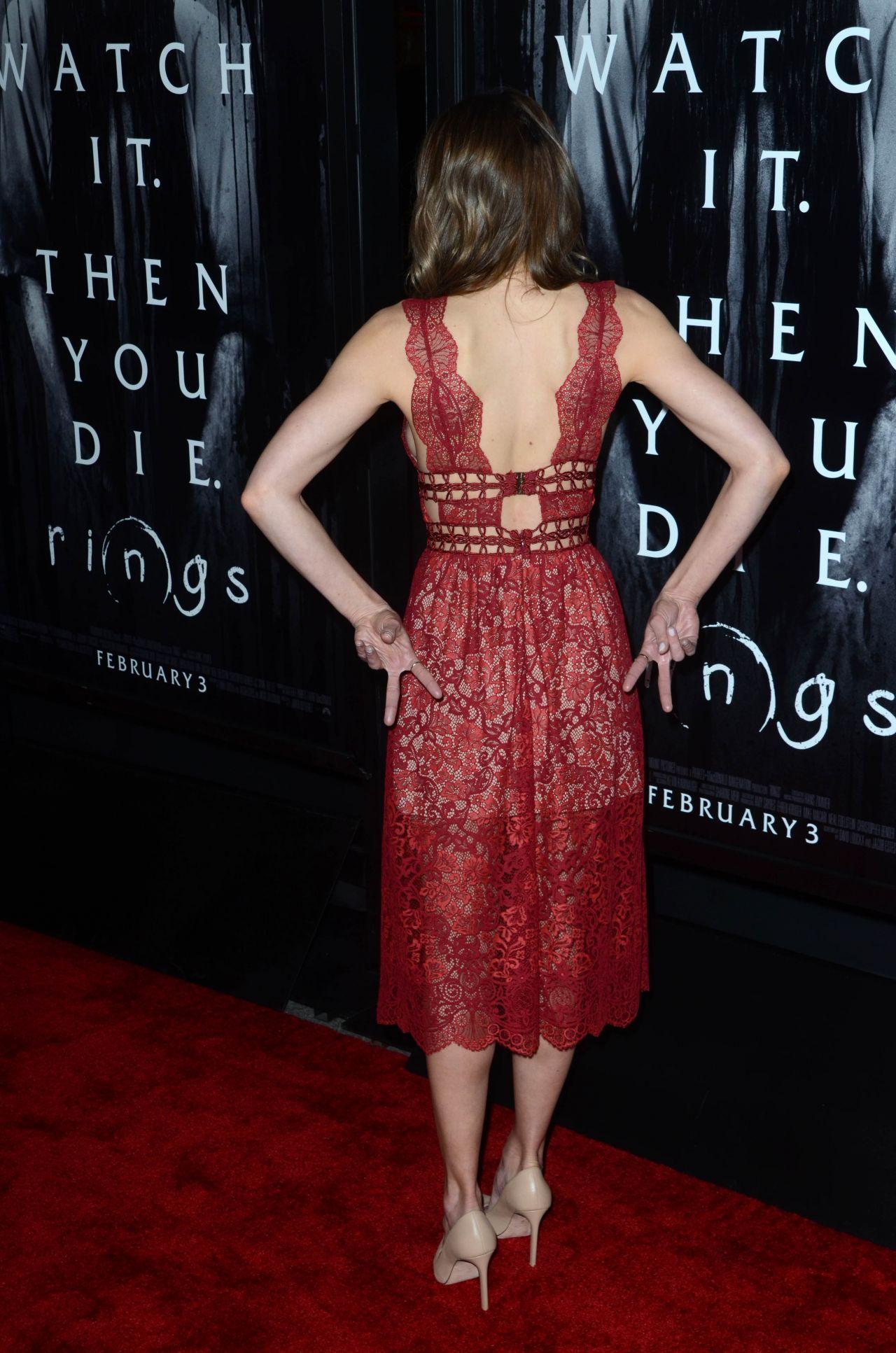 Aimee Teegarden  Rings Premiere in LA 22 2017