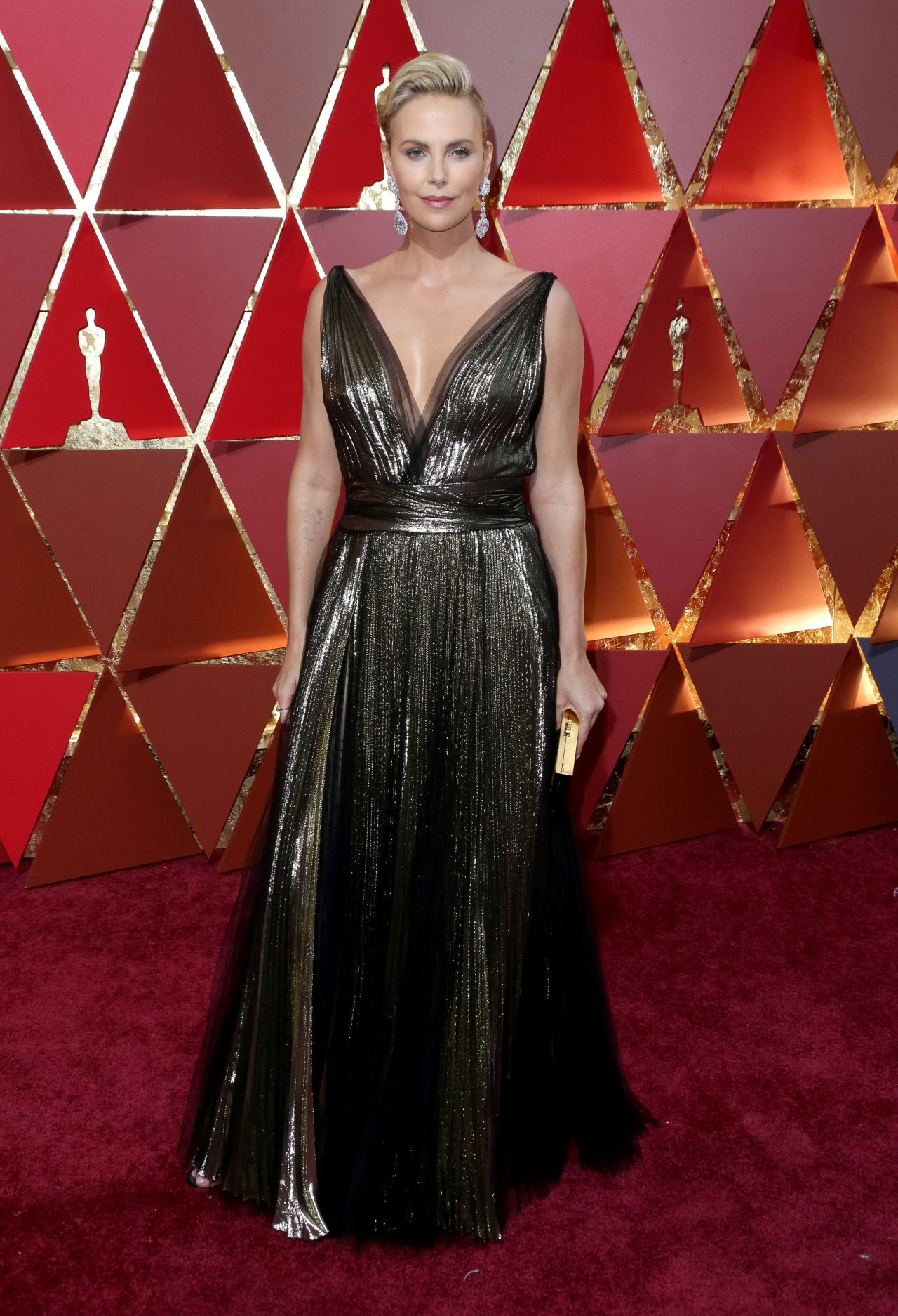 Charlize Theron  Oscars 2017 Red Carpet in Hollywood