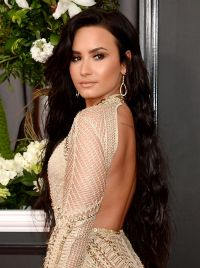 Demi Lovato on Red Carpet  GRAMMY Awards in Los Angeles 2
