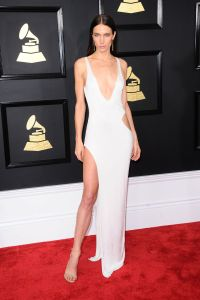 Jessica Miller on Red Carpet  GRAMMY Awards in Los ...
