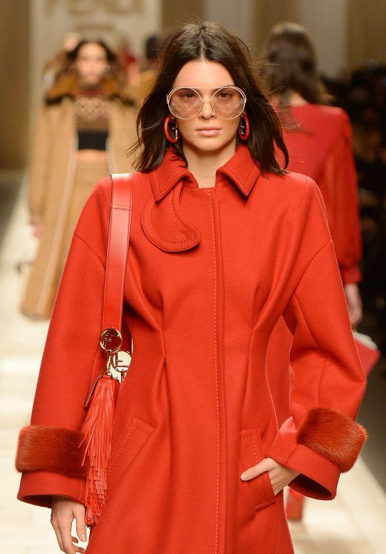 Kendall Jenner Supermodel Runway Walk at Milan Fashion Week – Fendi Show 2/23/ 2017