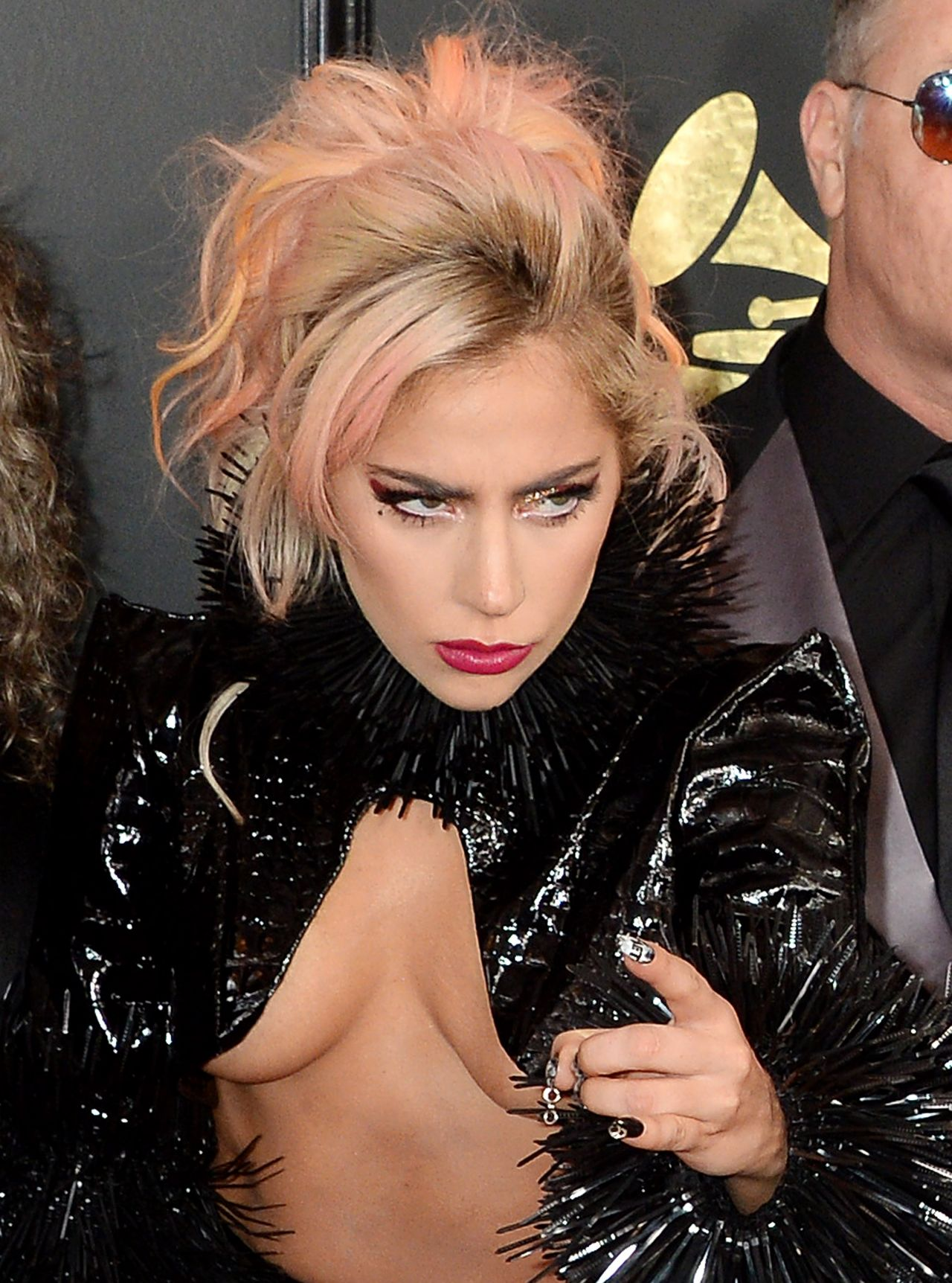 Lady Gaga on Red Carpet  GRAMMY Awards in Los Angeles 2