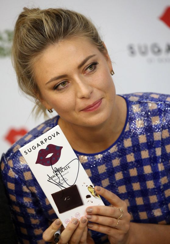 Maria Sharapova - Introduces New Sugarpova Chocolates at the Azbuka Vkusa Supermarket in Moscow 2/1/ 2017