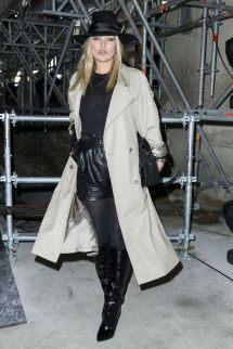 Kate Moss Paris Fashion Week Saint Laurent Show