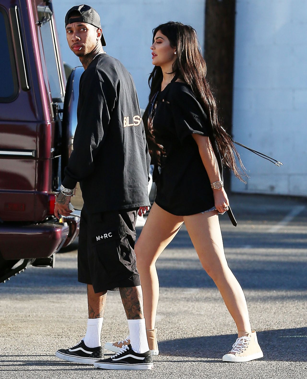 Kylie Jenner and Tyga at Kabuki Restaurant in Los Angeles