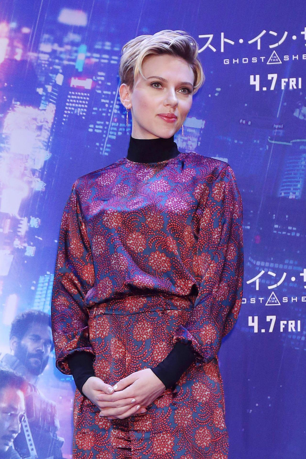 Scarlett Johansson Ghost In The Shell Premiere In Tokyo
