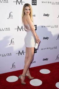 Lily Donaldson on Red Carpet at Daily Front Rows Fashion