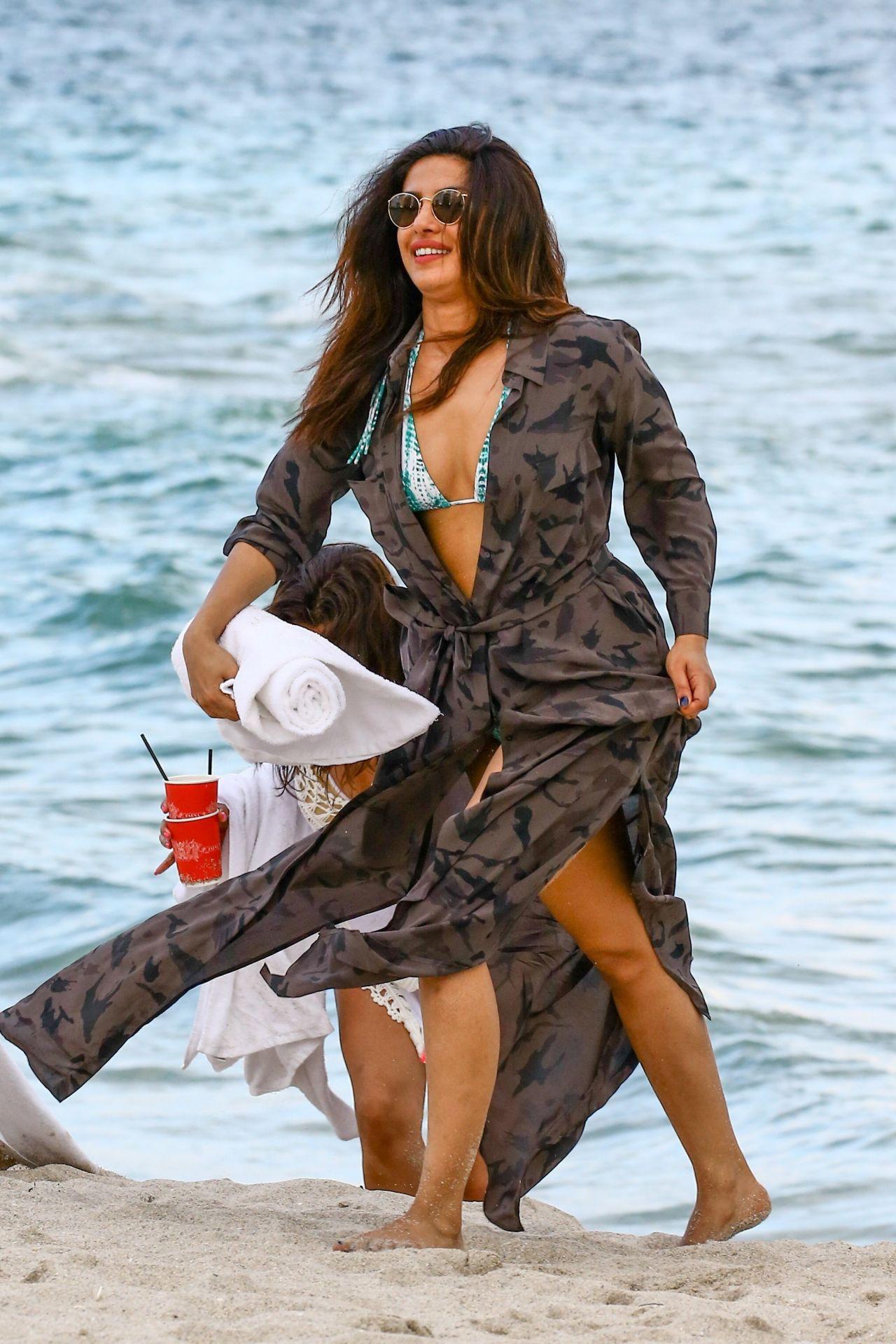Priyanka Chopra on the Beach in Miami Beach 05142017
