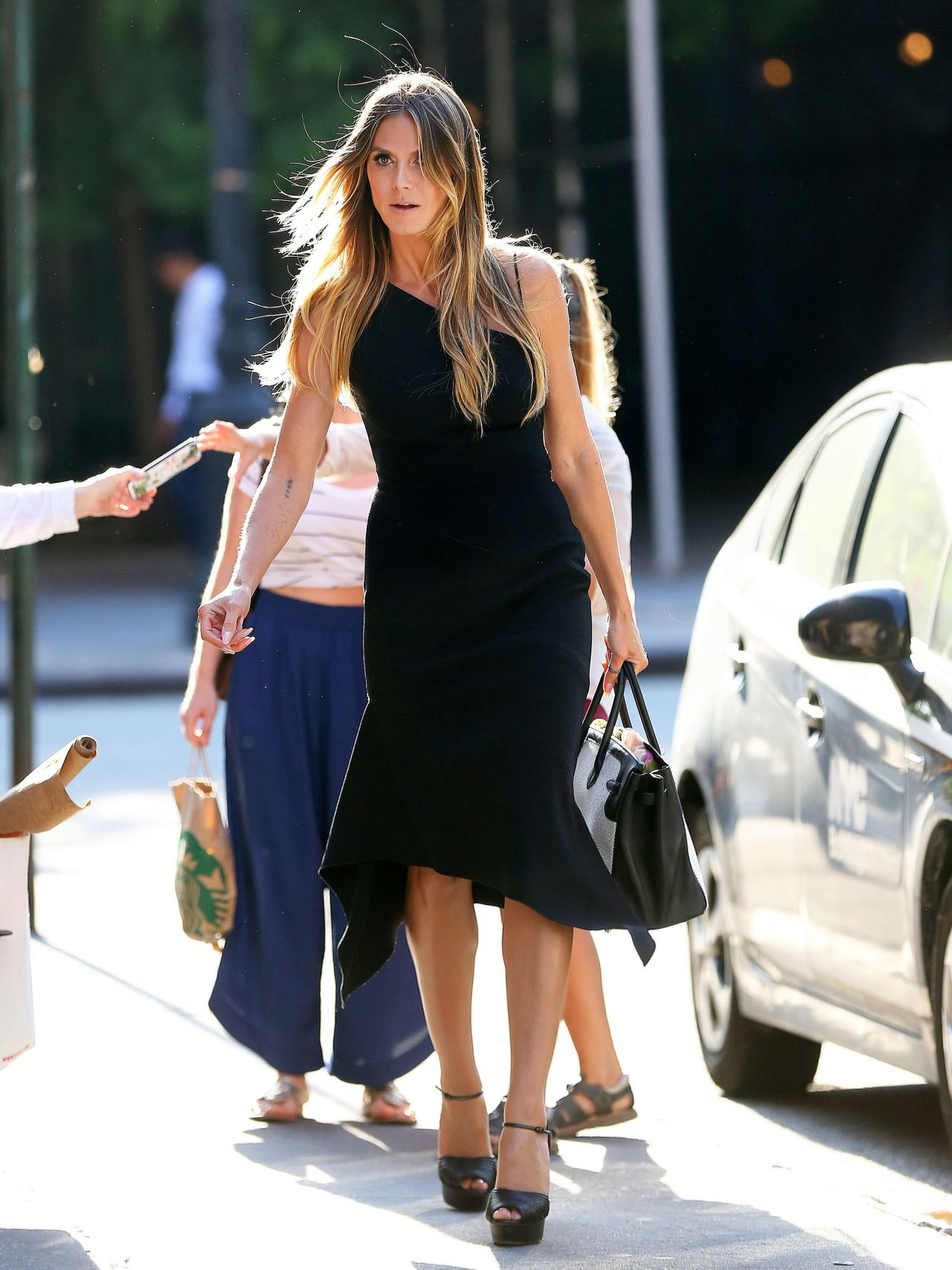 Heidi Klum With Her Daughter Shopping In Tribeca In NY