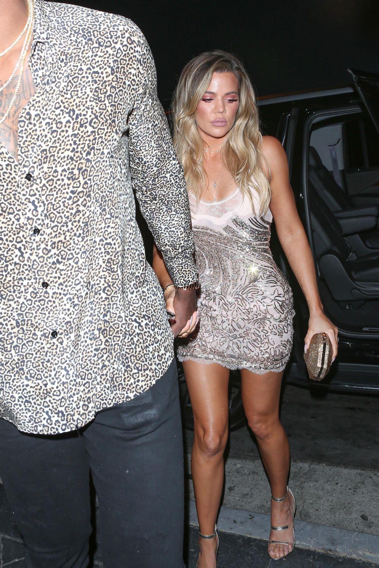 Khloe Kardashian Style Arriving At Her Surprise Birthday