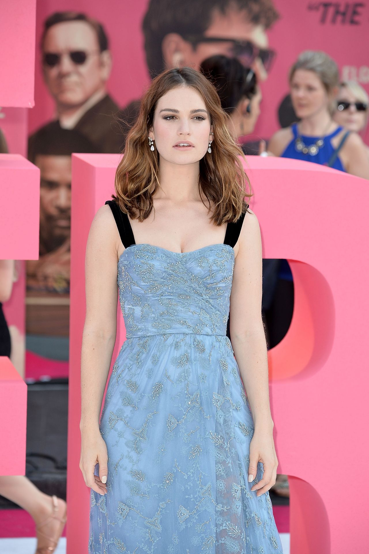 Lily James  Baby Driver European Premiere in London UK
