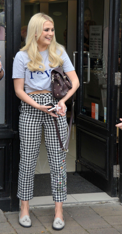 Lucy Fallon Cute Style  at Ceira Lamberts Hair Salon in Shankill Village Dublin 06172017
