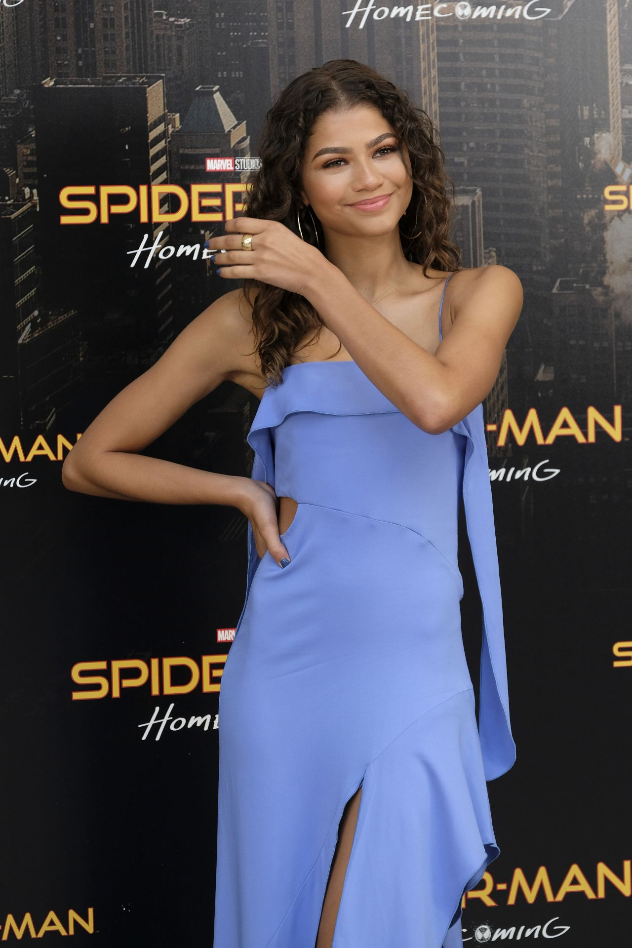 Zendaya  SpiderMan Homecoming Presentation in Madrid