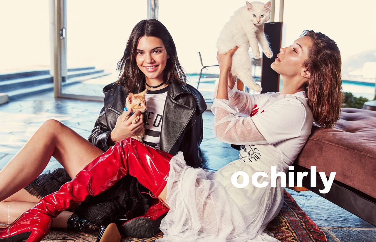 Bella Hadid And Kendall Jenner Ochirly Campaign 2017