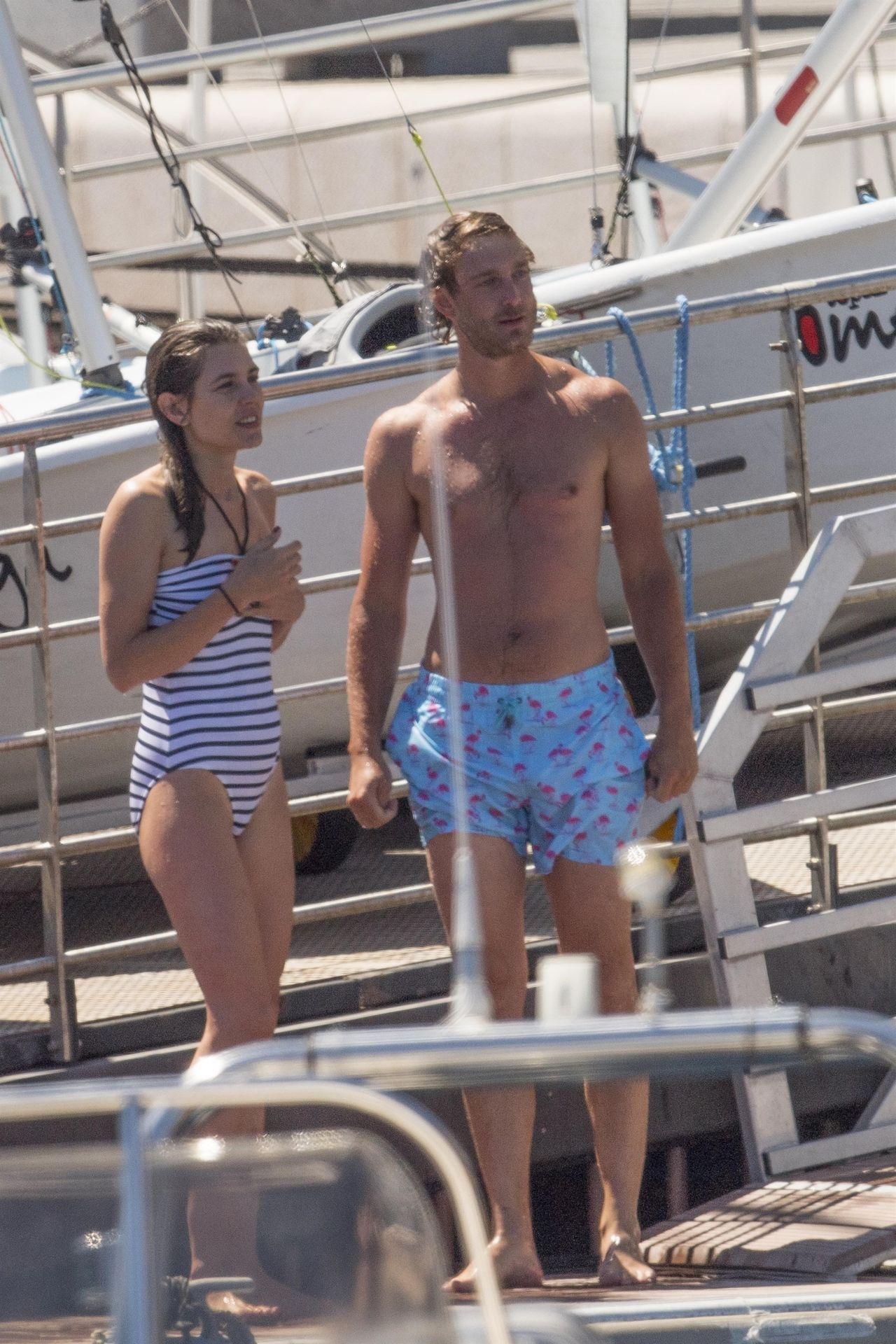 Charlotte Casiraghi In Swimsuit Monaco Yacht Club 07032017