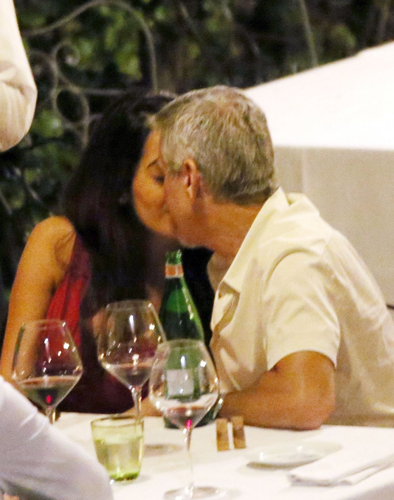 Amal Clooney and George Clooney  Candlelight Dinner at