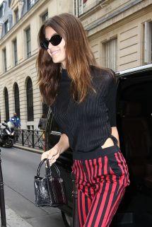 Kaia Gerber Style - Leaves George Hotel In Paris 09