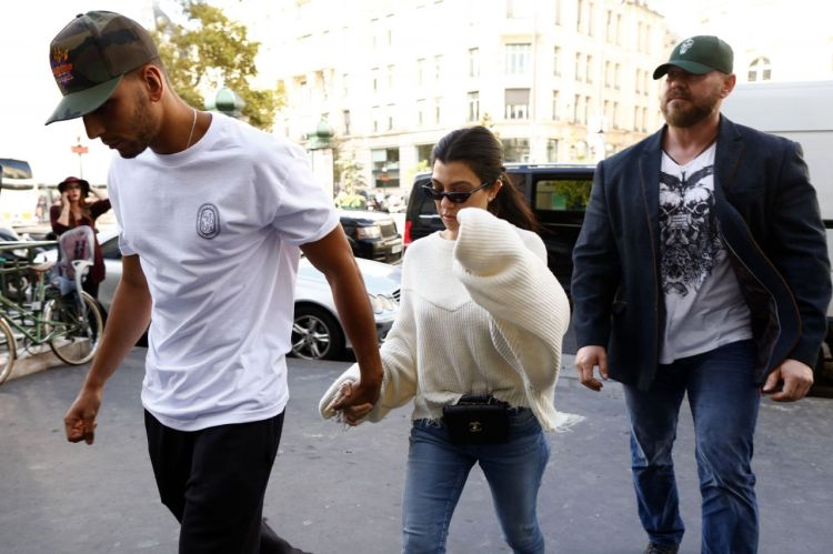 Kourtney Kardashian - Out in Paris Wih Her Boyfriend 09/30 ...