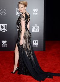 Amber Heard  Justice League Red Carpet in Los Angeles