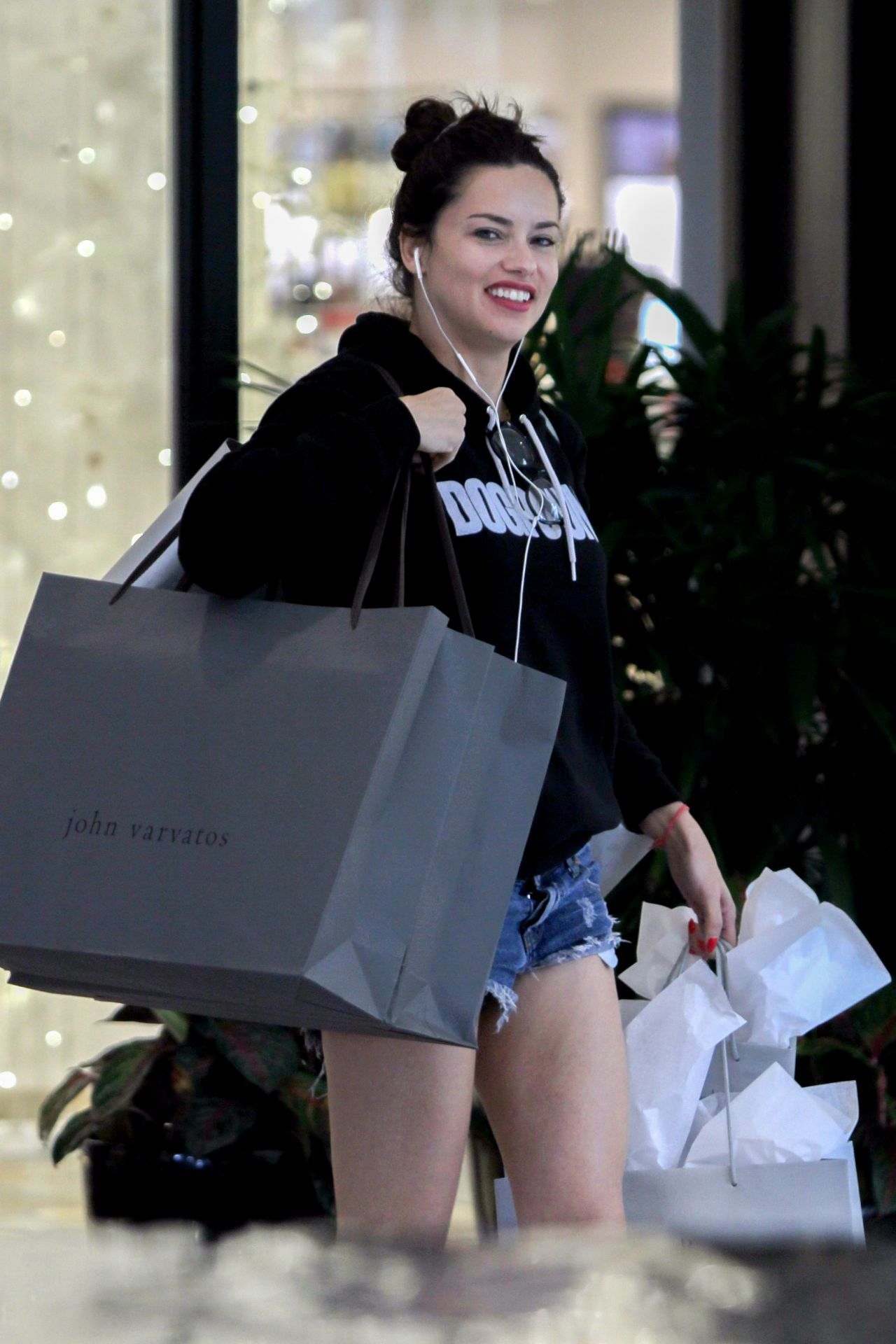 Adriana Lima  Christmas Shopping at Ball Harbor in Miami