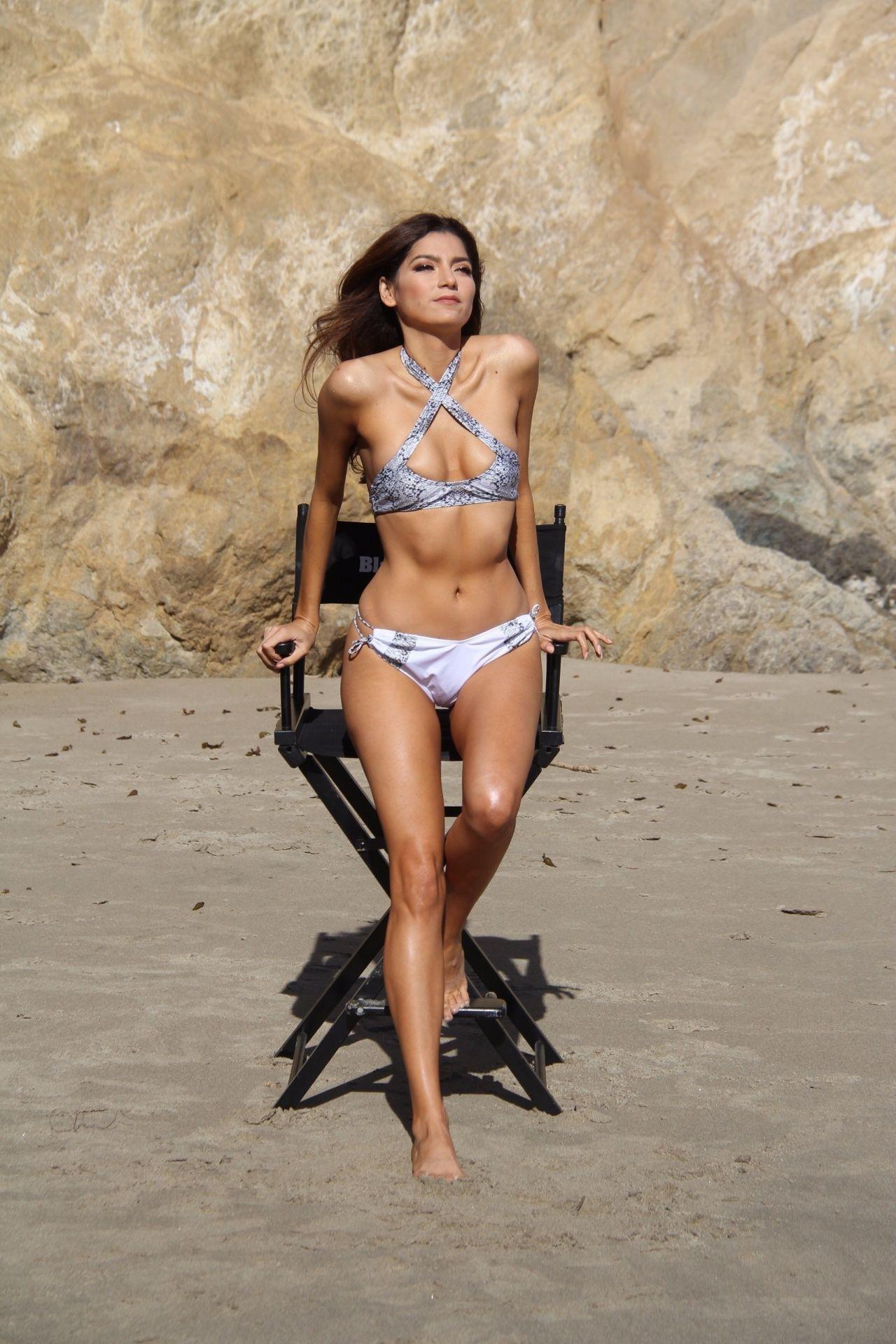 Blanca Blanco in Bikini  Directors Chair Golden Tan