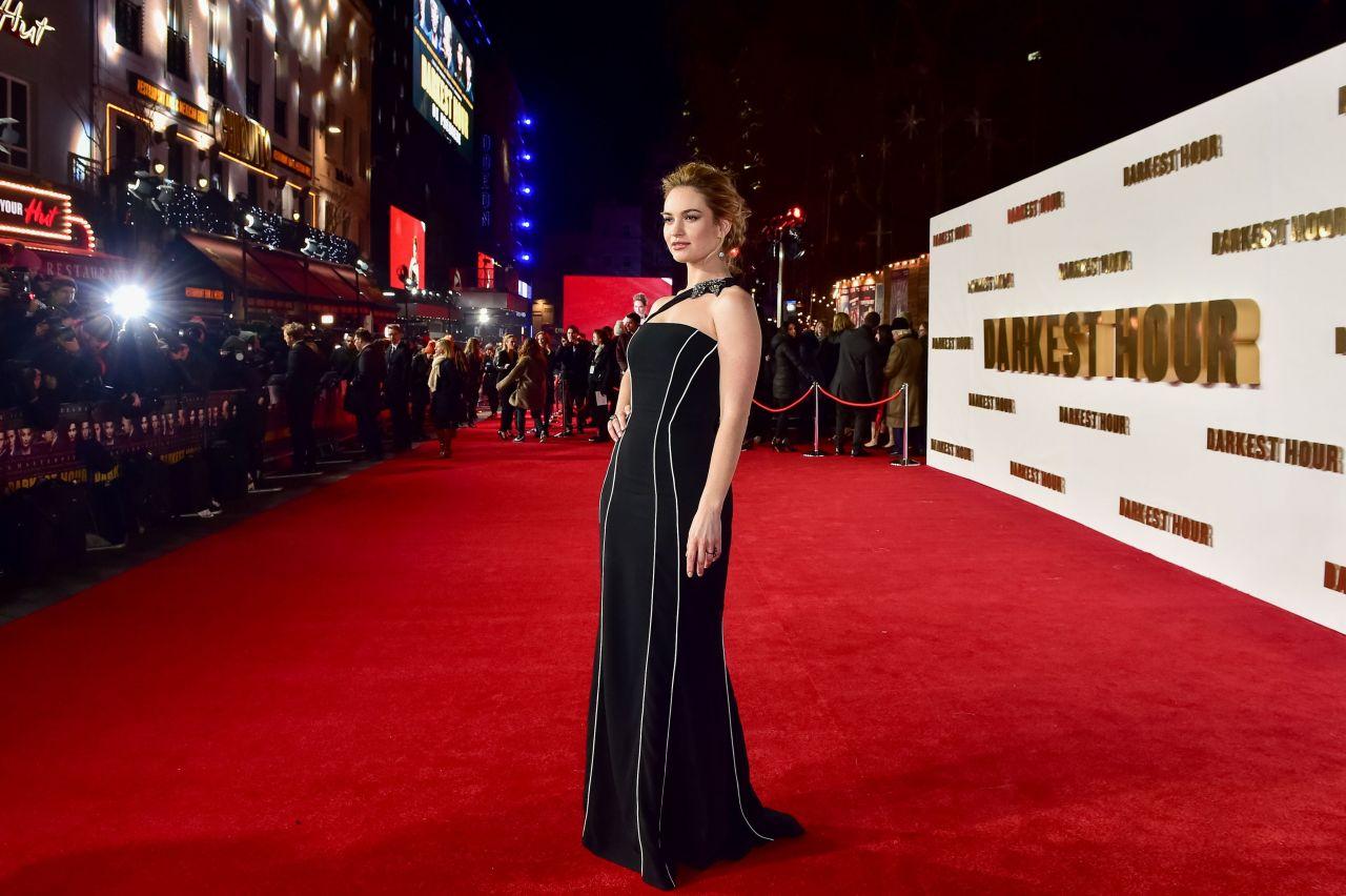 Lily James  Darkest Hour Premiere in London