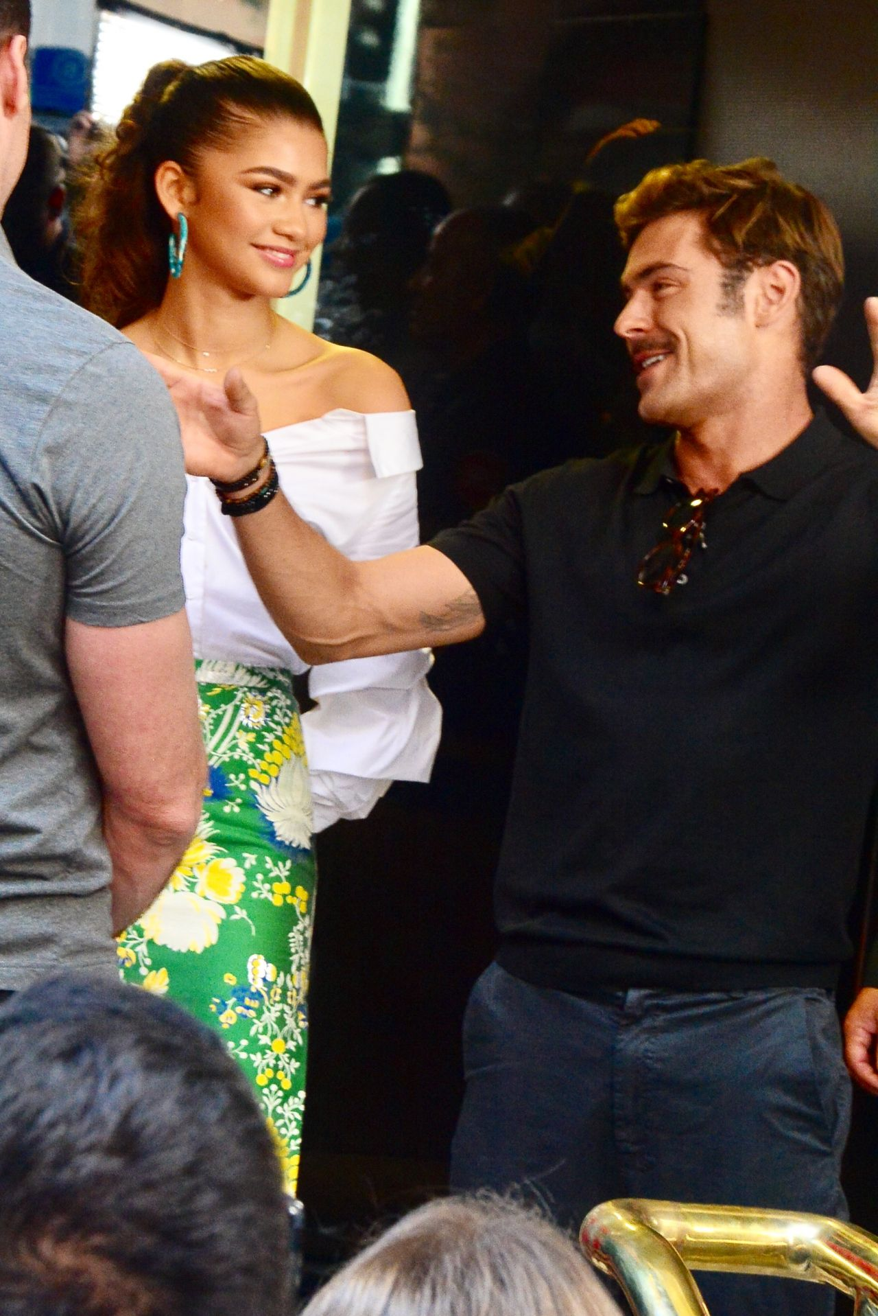 Zendaya Zac Efron and Hugh Jackman  Sunrise Show in Martin Place in Sydney
