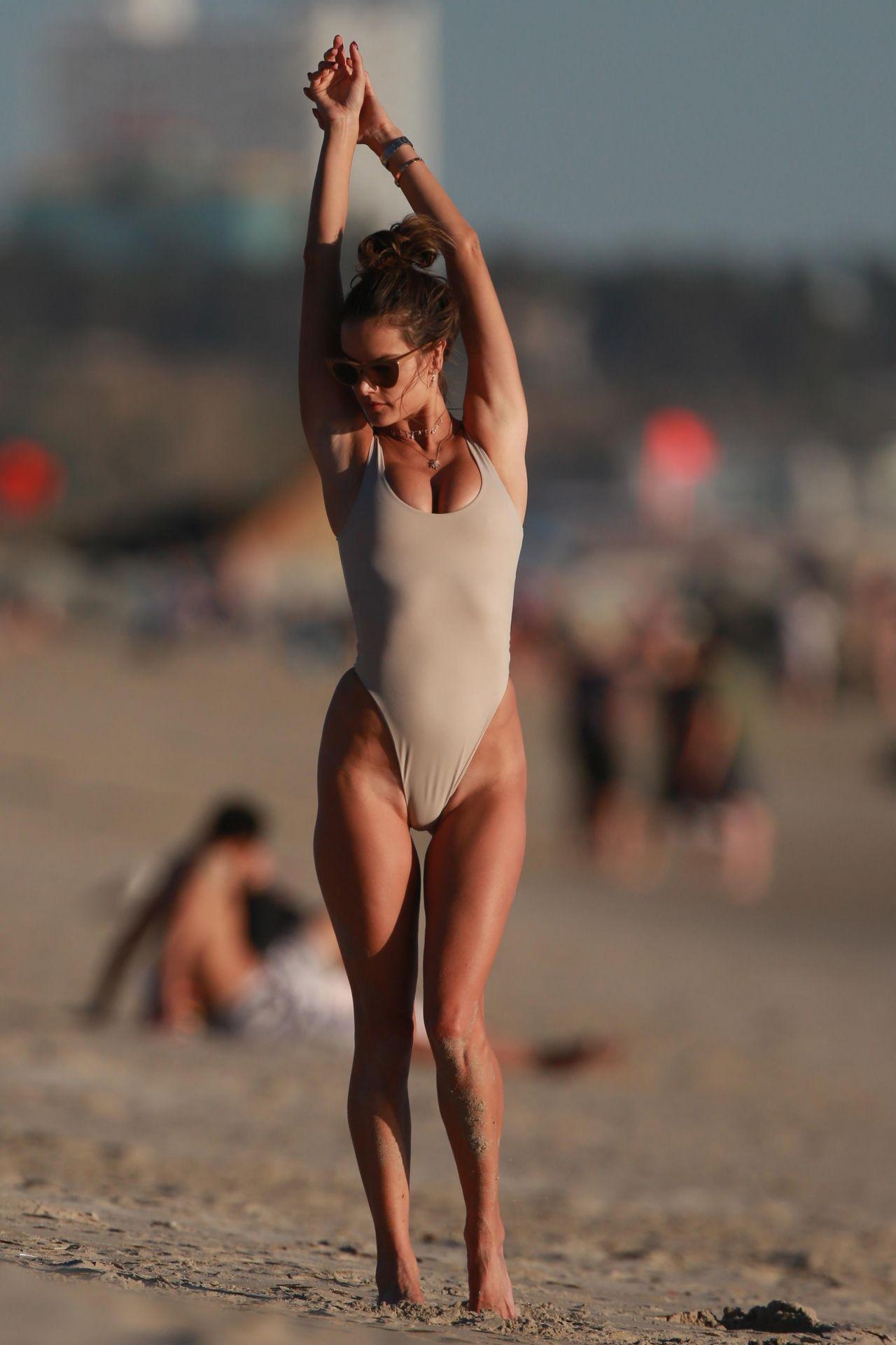Alessandra Ambrosio in Bikini at the Beach in Malibu 0128