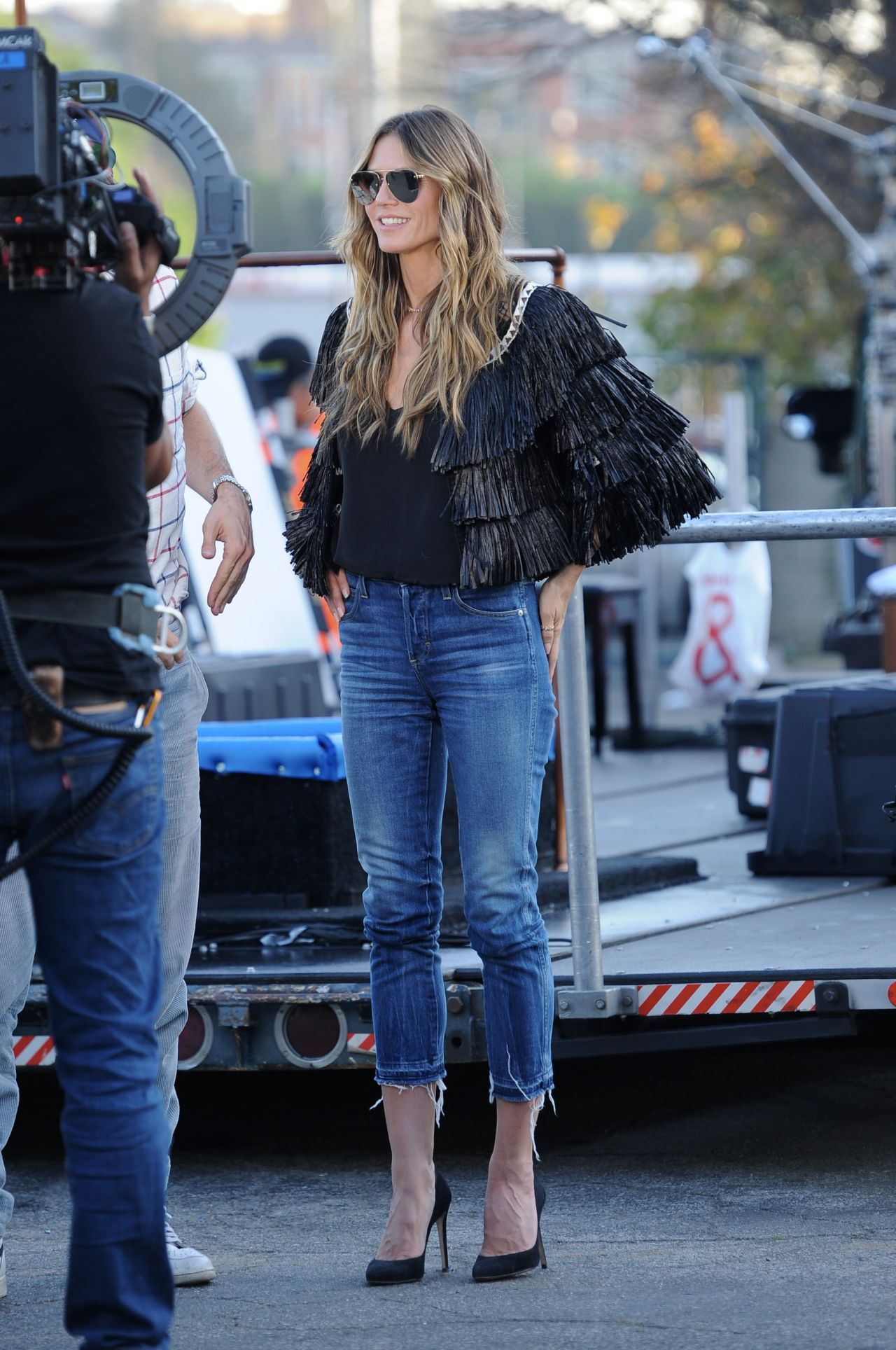 Heidi Klum  Germanys Next Top Model Filming in Hollywood