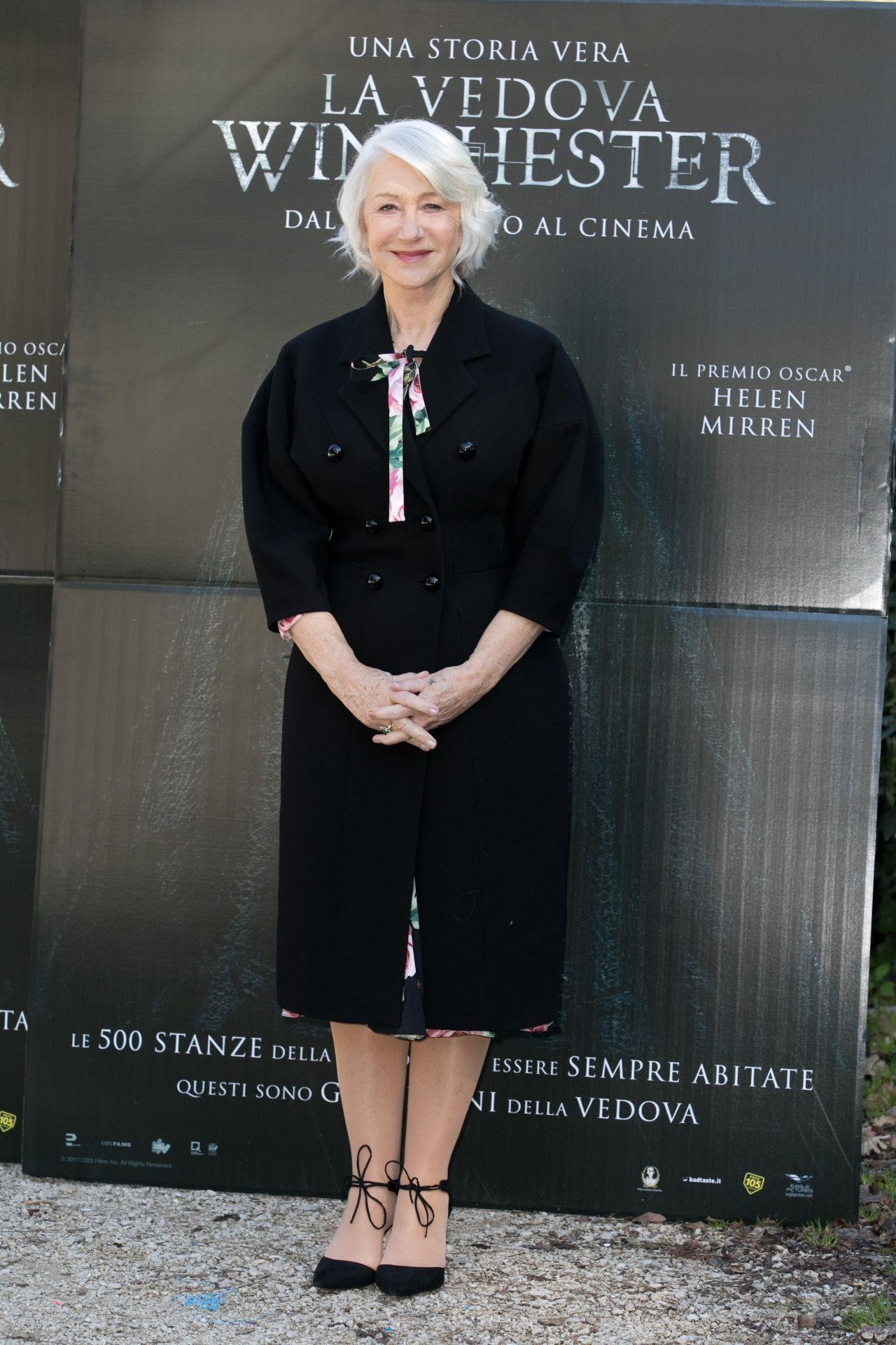 Helen Mirren  Winchester Photocall in Rome