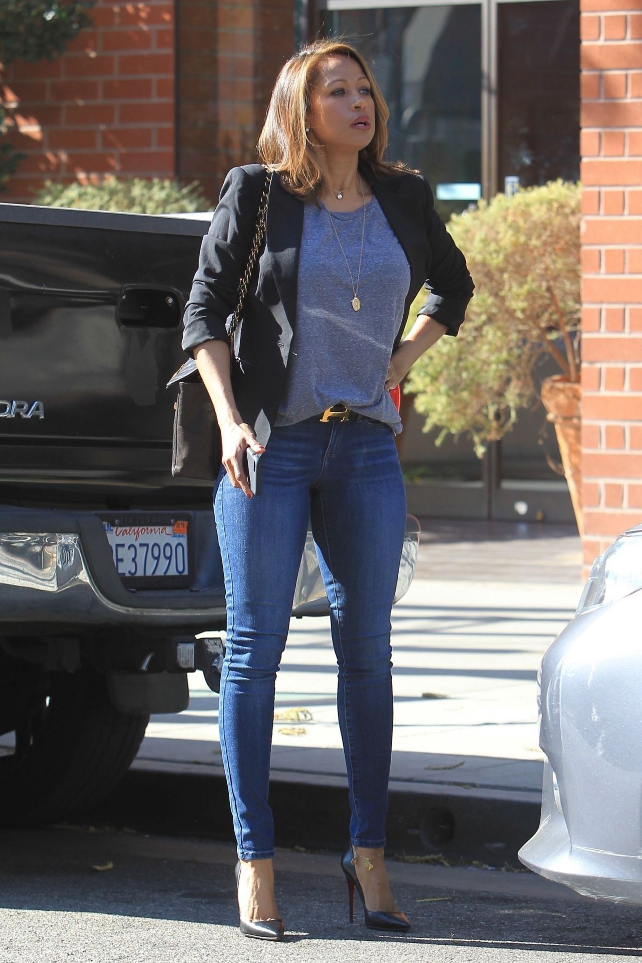 Stacey Dash Shopping in Beverly Hills 01312018