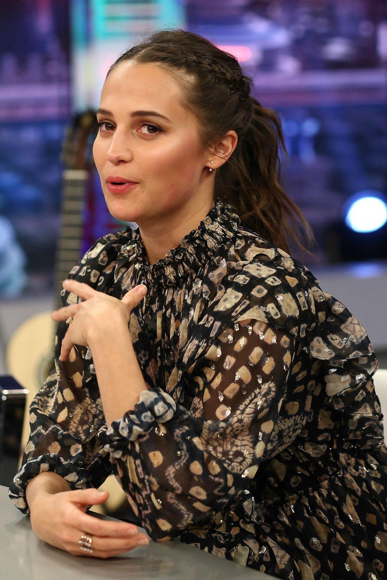 Alicia Vikander At El Hormiguero 30 TV Show In Madrid 03152018