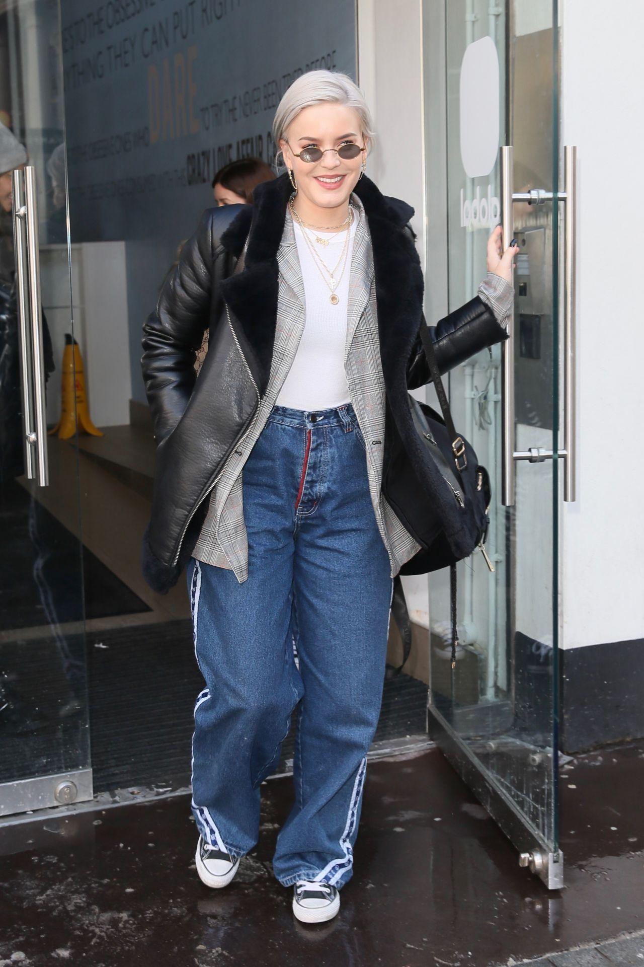 AnneMarie in Casual Outfit  Leaving Global Studios in London 02282018