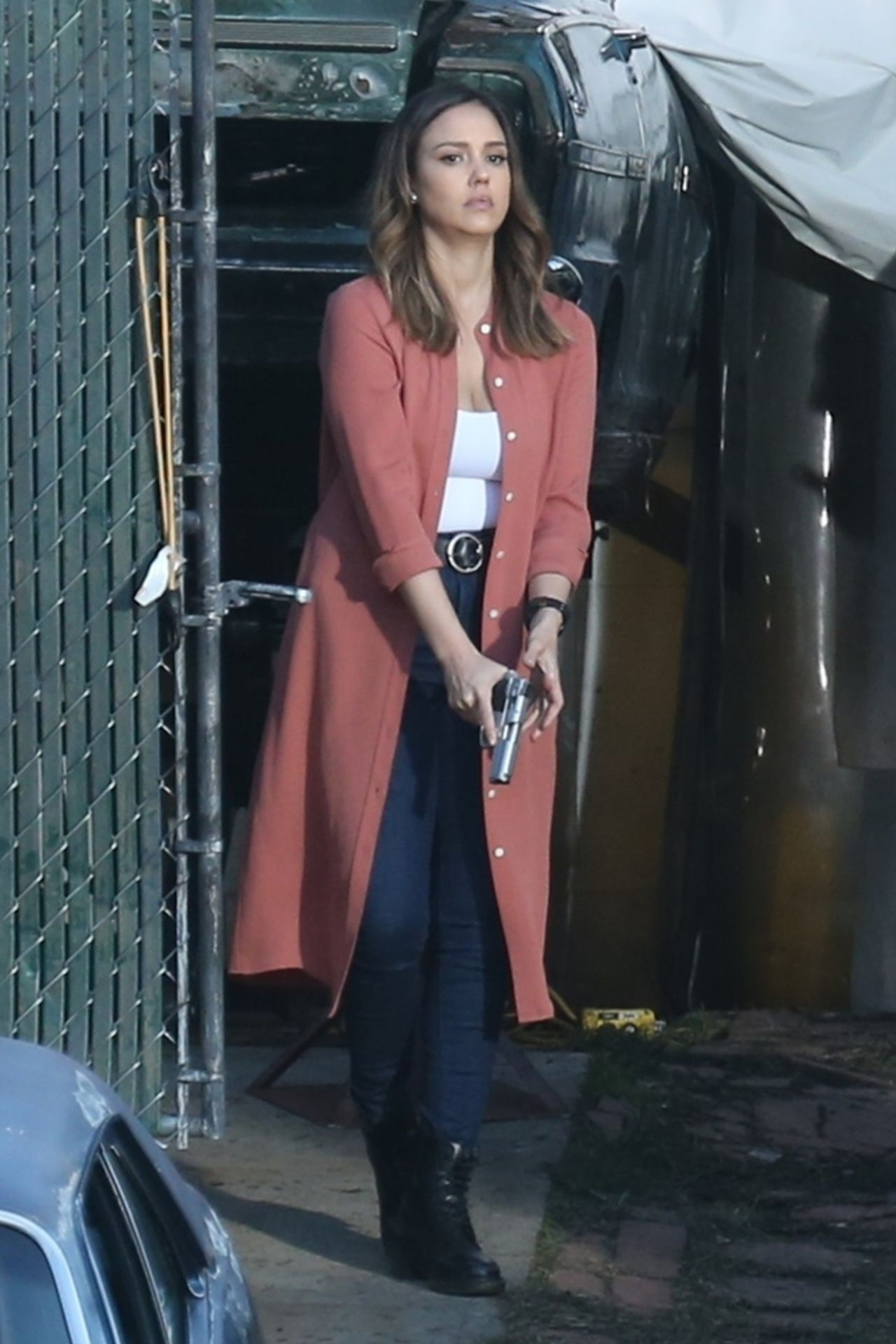 Jessica Alba  Filming the Untitled Bad Boys Spinoff Pilot