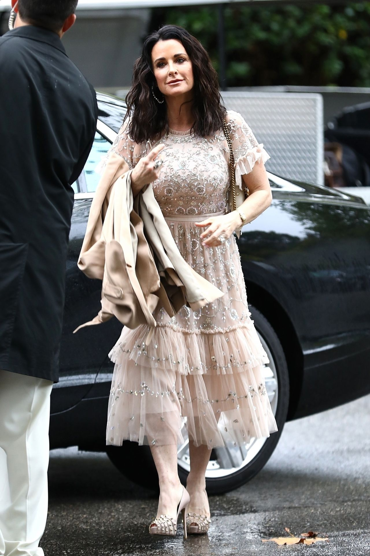 Kyle Richards Arriving At Khloe Kardashians Baby Shower