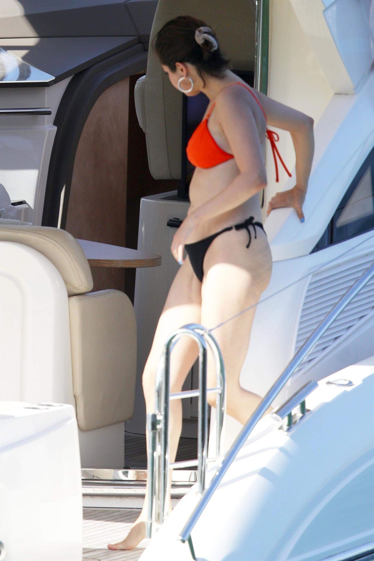 Selena Gomez in Bikini  Cruising Around Sydney Harbour