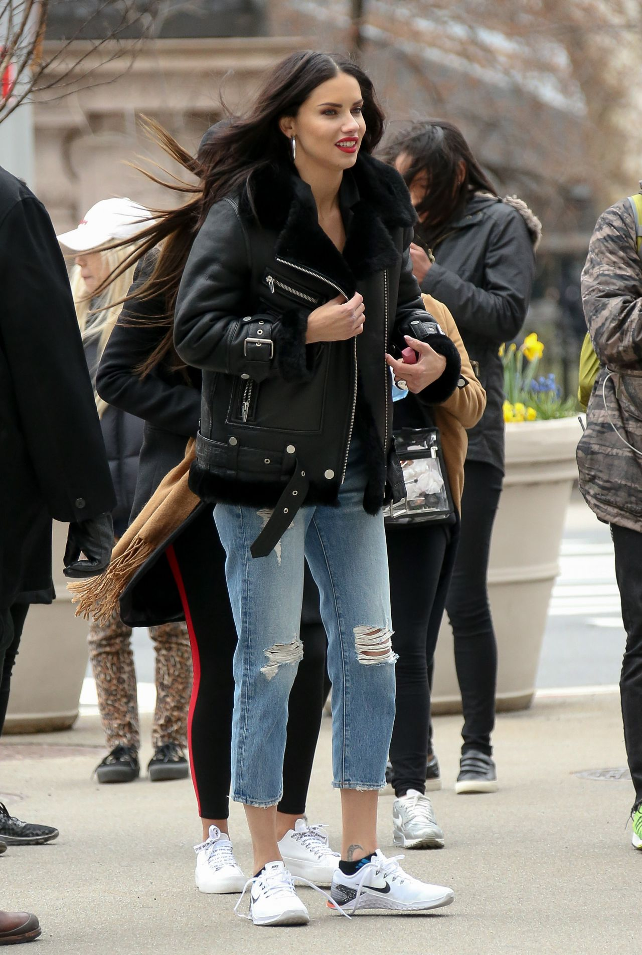 Adriana Lima  Maybelline Commercial Set in New York City