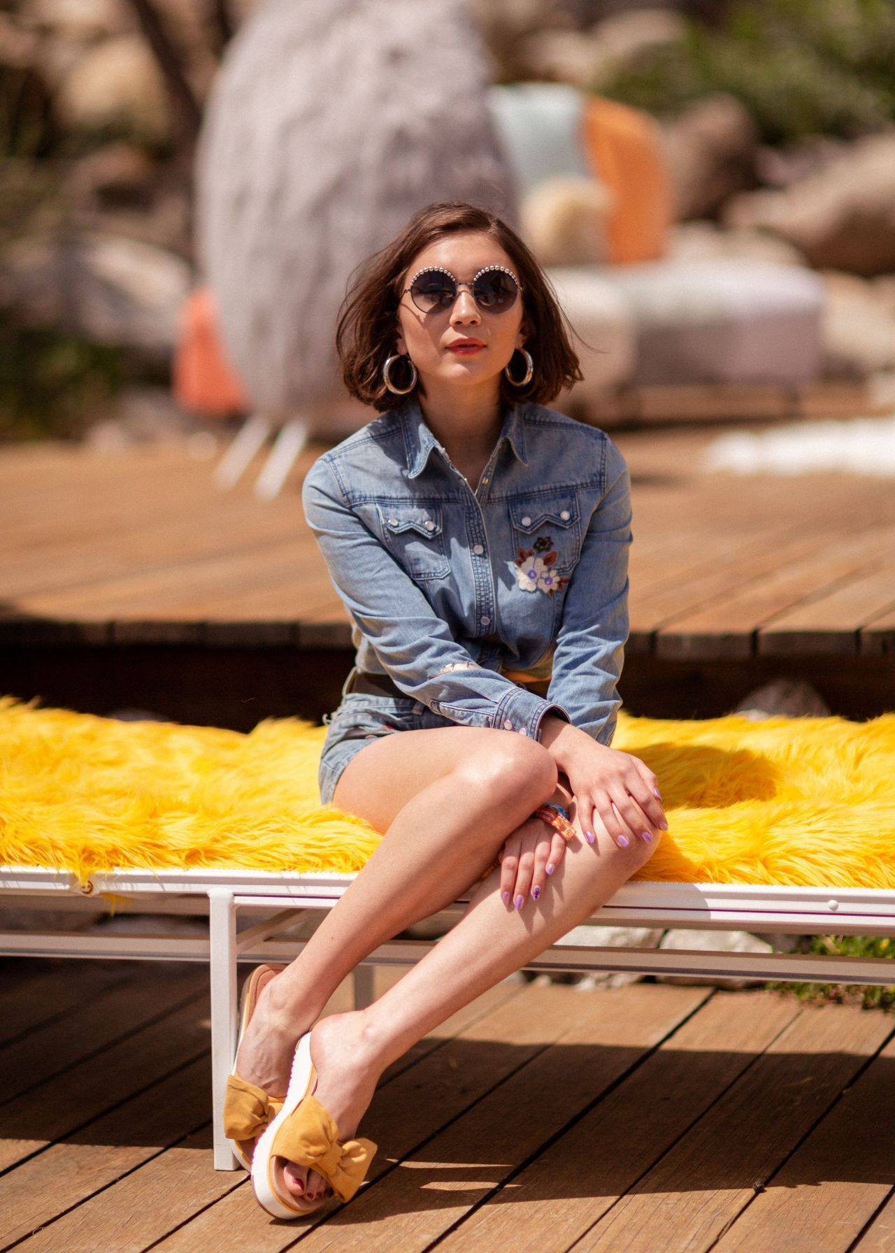 Rowan Blanchard  Festival KickOff Brunch at Coachella 2018