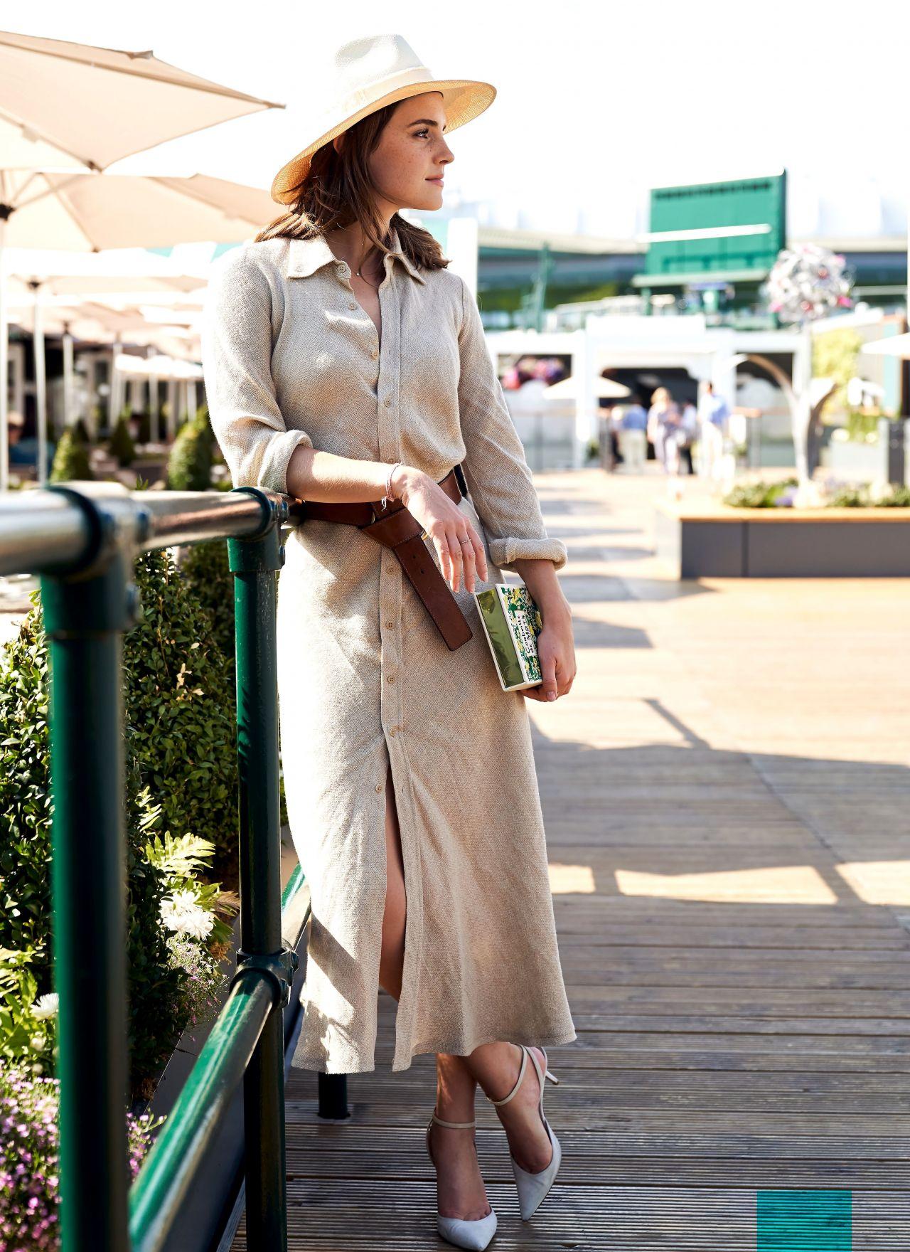 Emma Watson at The Championships at Wimbledon in London 07152018