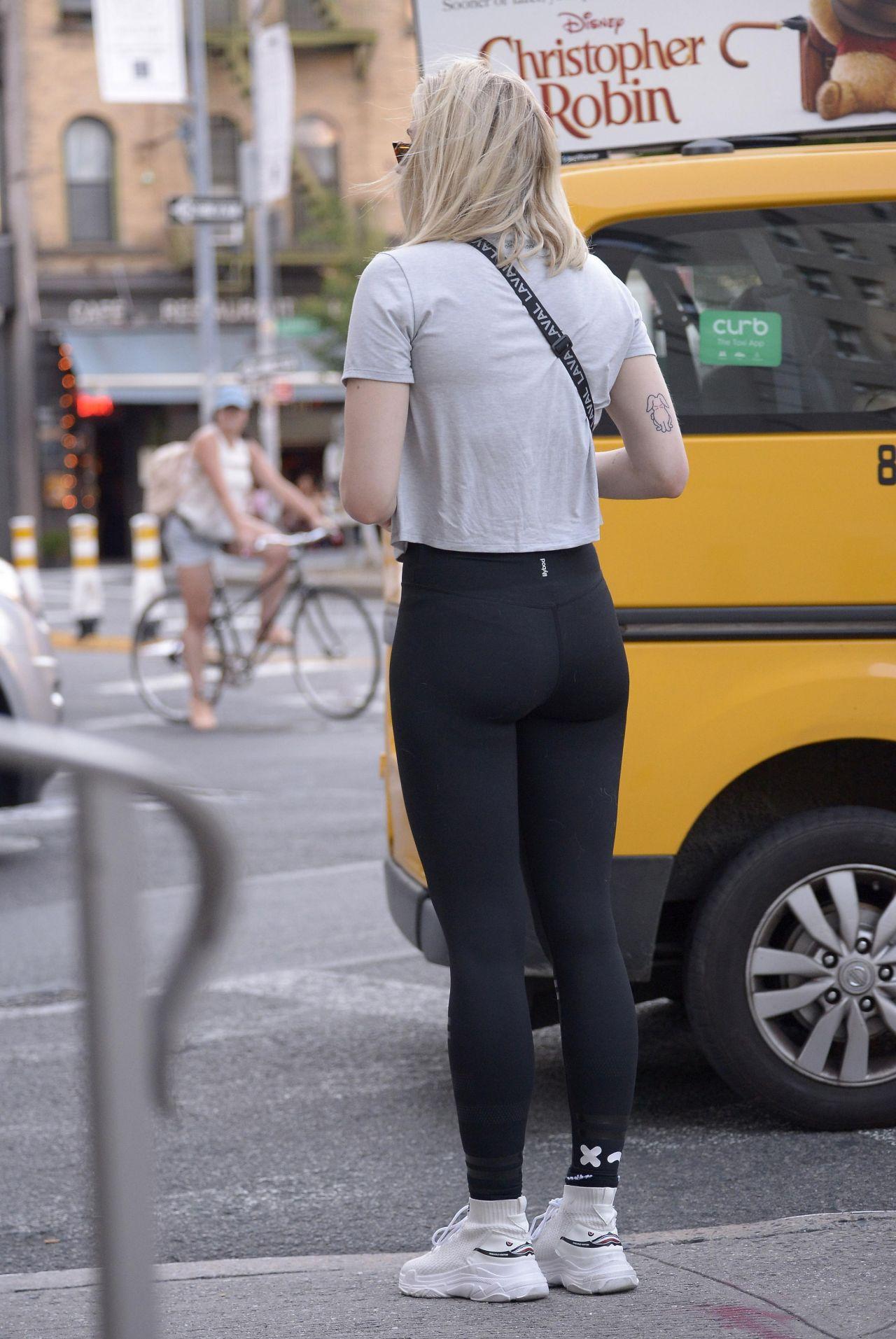 Sophie Turner in a Black Leggings in Soho NYC 07202018