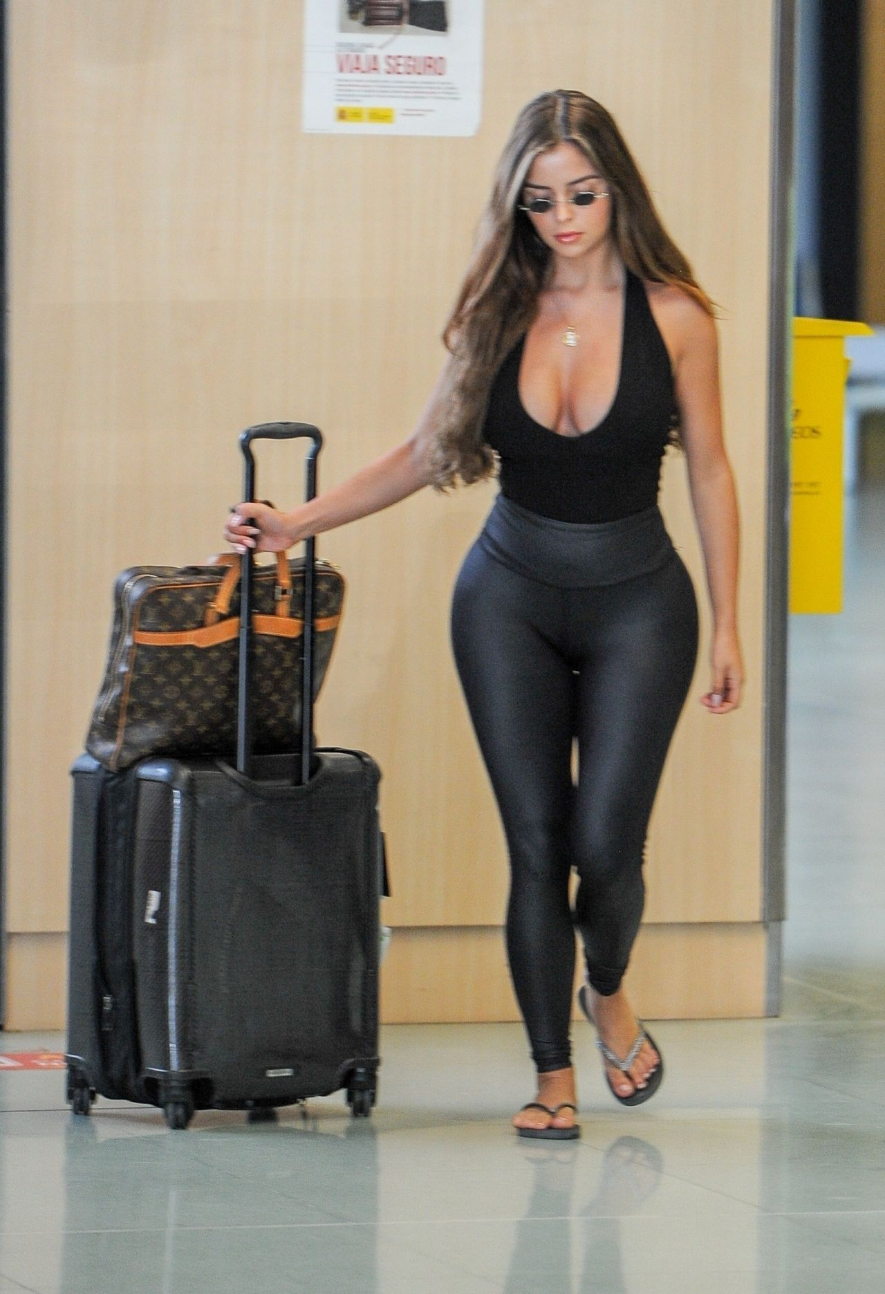 Demi Rose Arriving At Ibiza Airport August 2018