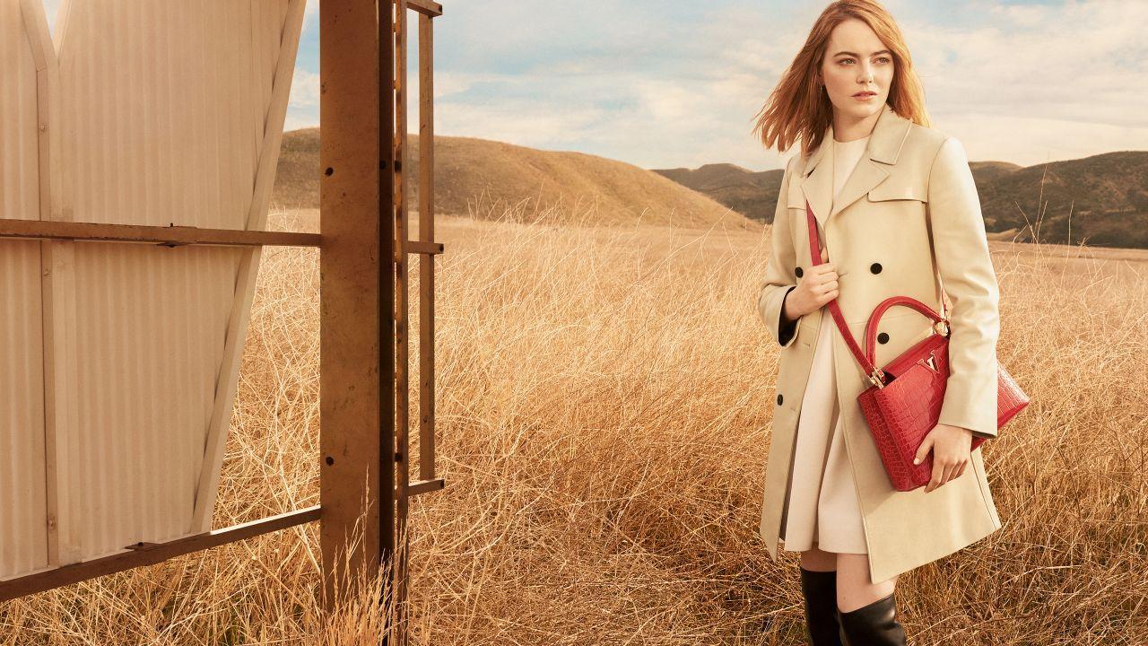 Emma Stone  Photoshoot for Louis Vuitton PreFall 2018