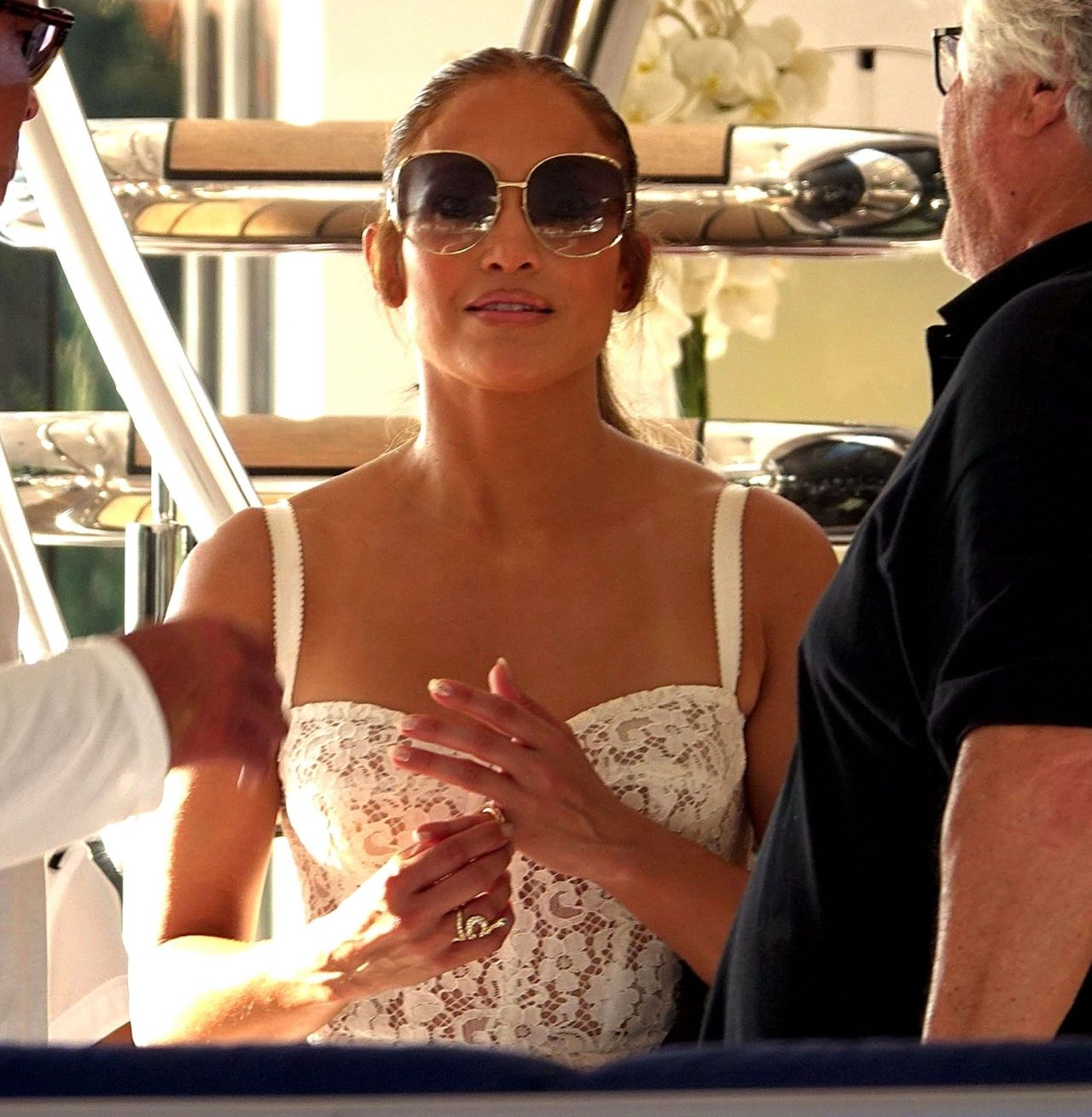 Jennifer Lopez and Alex Rodriguez on Their Luxury Yacht in