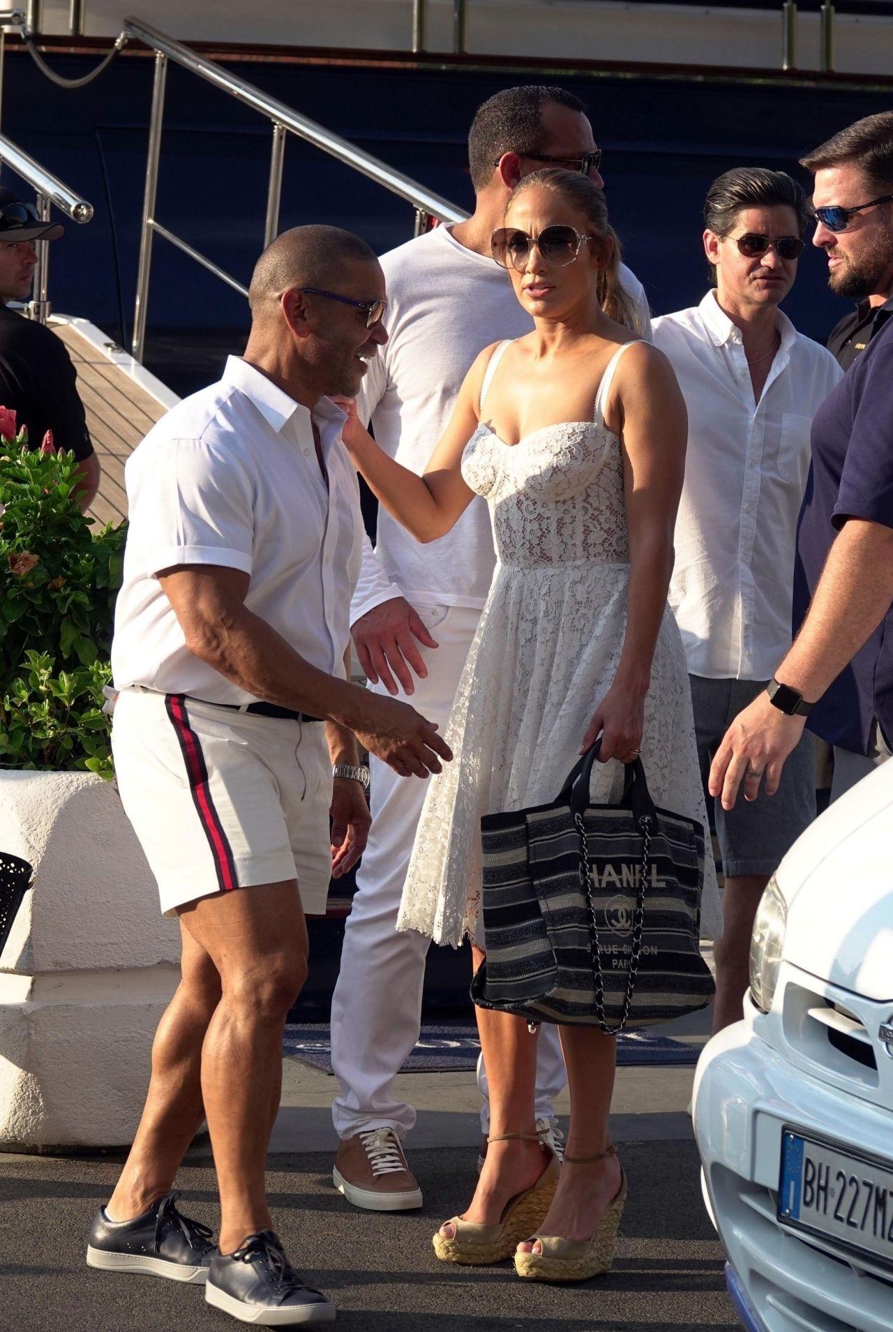Jennifer Lopez and Alex Rodriguez on Their Luxury Yacht in Capri 08072018  CelebzToday