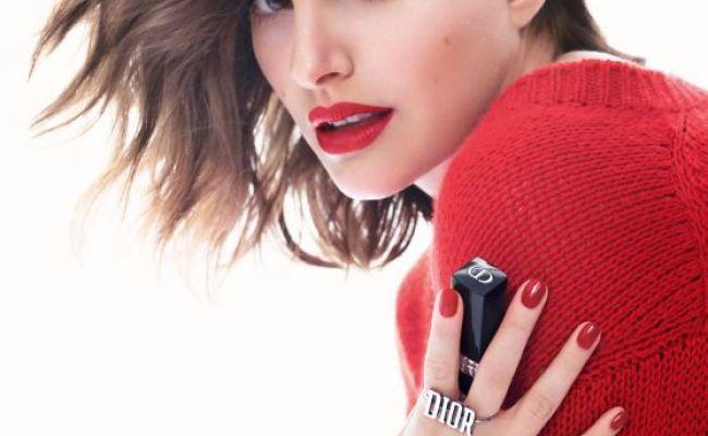 Natalie Portman Photoshoot For Dior Rouge Lipstick Campaign