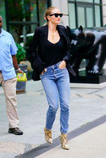 Rosie Huntington-whiteley In Denim Jeans York 08 16